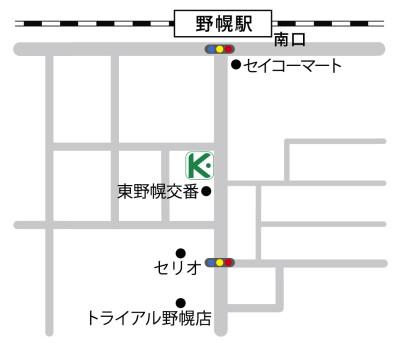 カラダステーション案内図