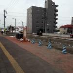 野幌南口の道路の開発の写真、整骨院カラダステーションの前の道